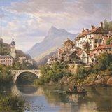 Riverside Village II Art Print