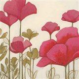 Ladybug Flowers I Art Print