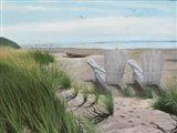 Perfect Spot on the Beach Art Print