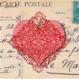 Le Coeur d'Amour I Art Print