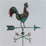 Rural Relic Rooster Art Print