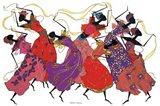Lead Dancer In Purple Gown Art Print