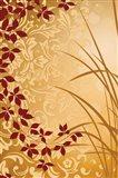 Golden Flourish II Art Print