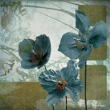 Cerulean Poppies II Art Print