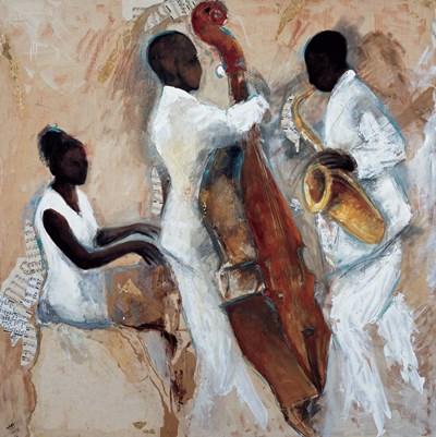 Night of Blues Art Print by Vila