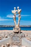 Sculpture for the governor of Benguela, Lobito, Angola Art Print