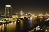 Night View of the Nile River, Cairo, Egypt Art Print