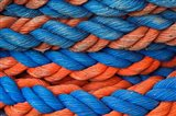 Pattern of rope on cruise ship, Nile River, Egypt Art Print