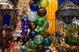 Glass Balls and Lamps, Khan El Khalili Bazaar, Cairo, Egypt Art Print