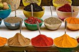 Bowls with Colorful Spices at Bazaar, Luxor, Egypt Art Print