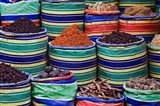 Colorful Spices at Bazaar, Luxor, Egypt Art Print