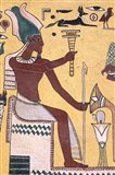 History with Painting Artwork in Luxor, Egypt Art Print