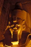 Lighted Face at the Great Temple of Ramesses II, Egypt Art Print