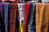 Textiles For Sale in Khan al-Khalili Bazaar, Cairo, Egypt Art Print