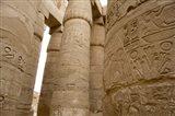 Hieroglyphic covered columns in hypostyle hall, Karnak Temple, East Bank, Luxor, Egypt Art Print