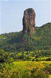 Stone Pillar in the Mountain, Bahir Dar, Ethiopia Art Print