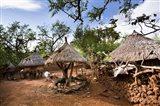 Konso village, Rift Valley, family compound, Ethiopia, Africa Art Print