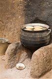 West Africa, Ghana, Nakpa. Pot on stove, mud dwelling Art Print
