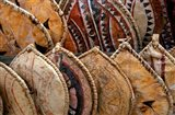 Kenya. Handmade Masai shields at a roadside market Art Print