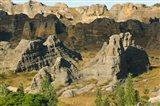 Madagascar, Isalo National Park, Eroded sandstone Art Print
