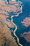 River flowing through land below, Madagascar Art Print