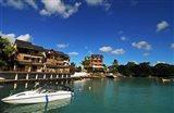 Anchored Boats, Grand Baie, Mauritius Art Print