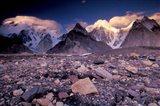 Broad and Gasherbrun Peaks, Karakoram Range, Pakistan Art Print