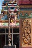 Indian Temple, Port Louis, Mauritius Art Print