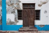 Traditional carved door in Quirmbas National Park, Ibo Island, Morocco Art Print