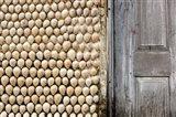 Cowrie shells on wall of building, Ibo Island, Morocco Art Print