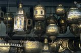 Artwork of Moroccan Brass Lanterns, Casablanca, Morocco Art Print