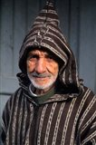 Portrait of Old Muslim Man, Tangier, Morocco, Africa Art Print