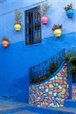Morocco, Chefchaouen Colorful House Exterior Art Print