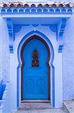 Morocco, Chefchaouen A Traditional Door Art Print