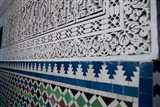 Close up of design on Islamic law courts, Morocco Art Print