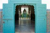 Morocco, Islamic law courts, tile walls, door Art Print