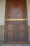 Morocco, Casablanca. Royal Palace, Harem doors Art Print