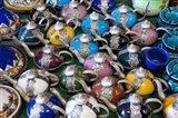 Morocco, Casablanca, market, Ceramic tea pots Art Print