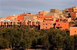 Small village settlements in the foothills of the Atlas Mountains, Morocco Art Print
