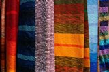 Woven Moroccan silk scarves, Fes, Morocco, Africa Art Print