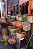 Africa, Morocco, Marrakech. Spices of the mellah of Marrakech. Art Print