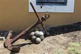 Africa, Mozambique, Maputo. Anchor and cannonballs at the Old Fort. Art Print