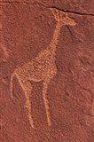 Ancient rock etchings, Twyfelfontein, Damaraland, Namibia Art Print