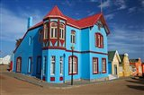 Colorful German colonial architecture, Luderitz, Namibia Art Print