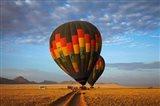 Launching hot air balloons, Namib Desert, near Sesriem, Namibia Art Print