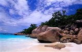Beach, La Digue in the Seychelle Islands Art Print