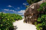 Popular Anse Source D'Agent white sand beach, Island of La Digue, Seychelles Art Print
