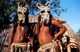 Zulu Zebra Masked Dancers, South Africa Art Print
