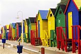 Colorful Changing Houses, False Bay Beach, St James, South Africa Art Print