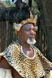 South Africa, KwaZulu Natal, Zulu tribe chief Art Print